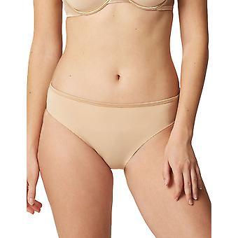 Maison Lejaby 5563M-389 Women's Nuage Pur Power Skin Beige Satin Briefs Knickers Bikini