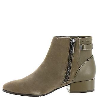 Fácil espírito Womens Dragon Square Toe Ankle Boots moda