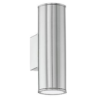 Exterior de acero inoxidable LED Eglo Riga arriba y abajo de la lámpara de pared