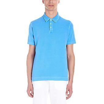 Z Zegna Vs309zz710a02 Men's Light Blue Cotton Polo Shirt