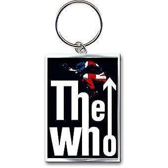De WHO sprong logo metalen sleutelhanger