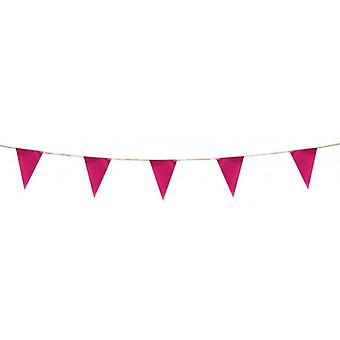 Union Jack Wear Pink Pennant Bunting 5m ( 17 Feet )