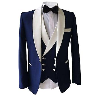 Allthemen Men's Tuxedo Suit Wedding Banquet Slim Fit 3-Piece Suit Blazer&Pants&Vest
