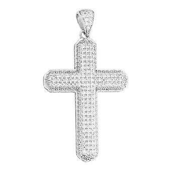 Premium Bling - plata Cruz colgante plata de ley 925