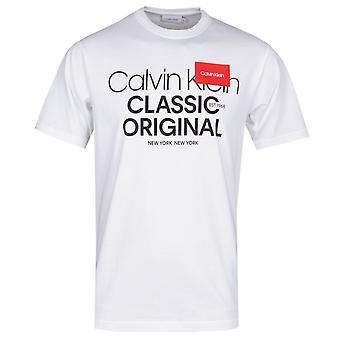 Calvin Klein logo tekst hvid T-shirt
