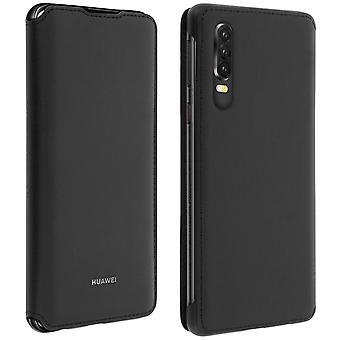 Huawei P30 Case cover opslagkaarten integrale bescherming-zwart