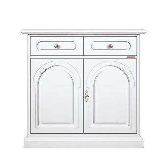 Klassisch weißes Cupboard 2 Türen 2 Schubladen
