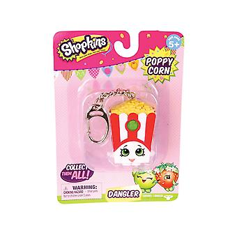 Shopkins Dangler Keyring - Poppy Popcorn