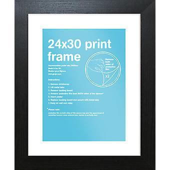 Eton zwart Frame 24 x 30cm Poster / Frame afdrukken