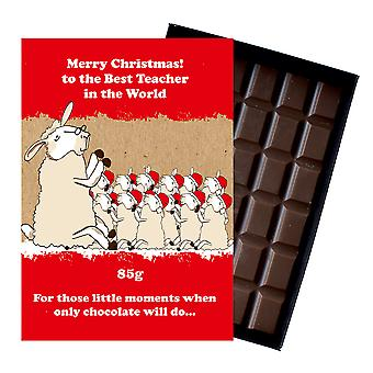 Funny Christmas Gift For School Teacher Boxed Chocolate Xmas Present for Him or Her XMS126