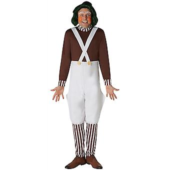 Oompa Loompa Willy Wonka And the Chocolate Factory Dress Up Mens Costume