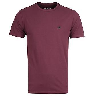 True Religion Metal Logo Burgundy T-Shirt