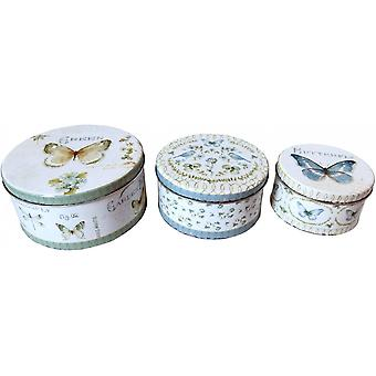 Round Butterfly Cake Tin Set (Pack Of 3)