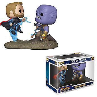 Movie Moments: Marvel - Thor vs Thanos Funko Pop