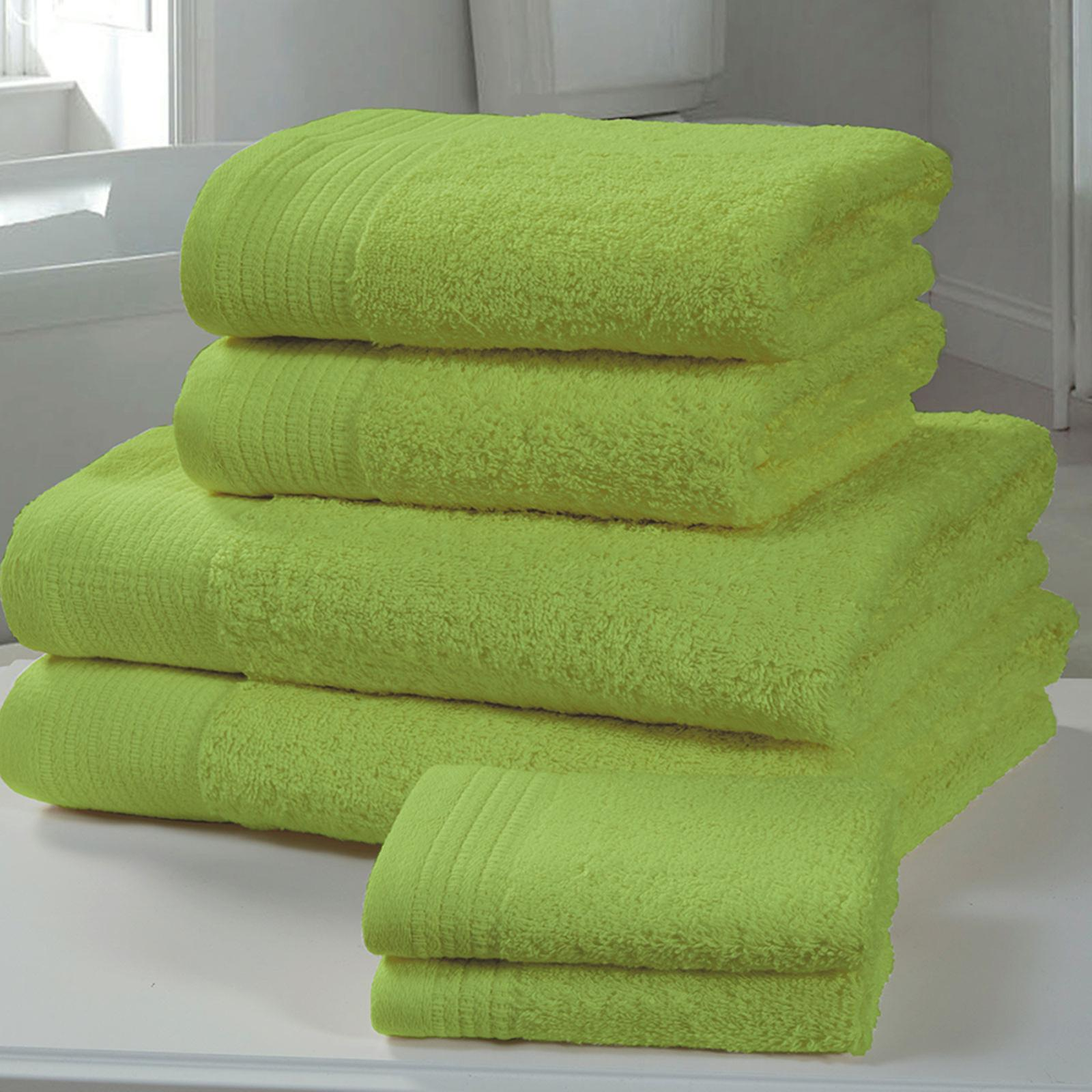 Chatsworth 4 Piece Towel Bale Lime - 2 Hand Towels, 2 Bath Towels