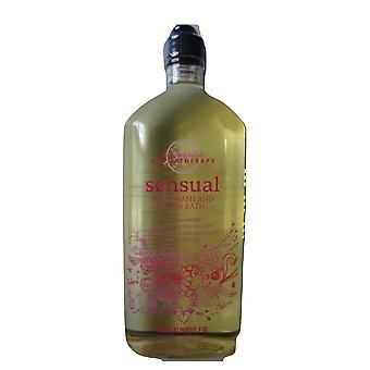 Baie & Body Works Aromaterapie Senzual sandalwood Sandalwood Fig Body Wash & Foam Bath 10 oz / 295 ml (Pachet de 2)