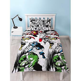 Marvel Comics Crop Duvet Cover and Pillowcase Set