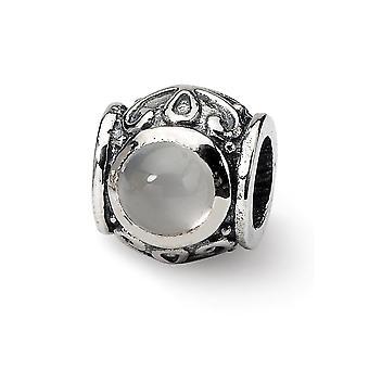 925 Sterling Sølv finish Reflections Simuleret Opal Cubic Zirconia Perle Charm Vedhæng halskæde smykker gaver til kvinder