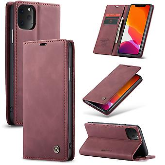 Protective Case Faux Leather Cover for Apple iPhone 11 Pro Max Red Case Wallet Case Case