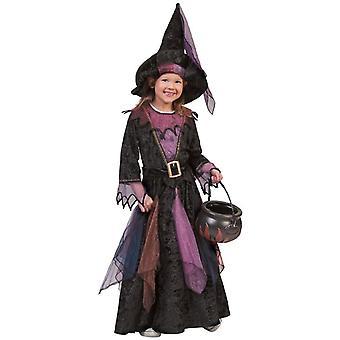 Witch Midnight Kinderkostüm Hexe Kleid Mädchen Kostüm Karneval Halloween Kinder Fasching