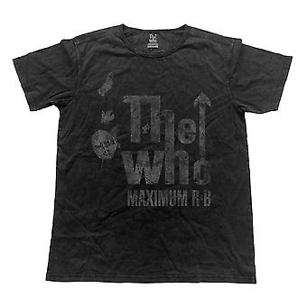 The Who T Shirt Maximum  R&B band logo Official Mens Vintage Finish Black