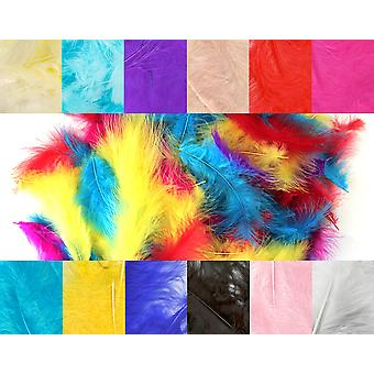 8g Marabou 3-8in Mixed Feathers for Crafts
