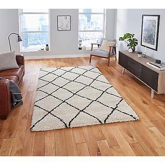 Atlas 01678 Creme schwarz Rechteck Teppiche Plain/Fast einfache Teppiche