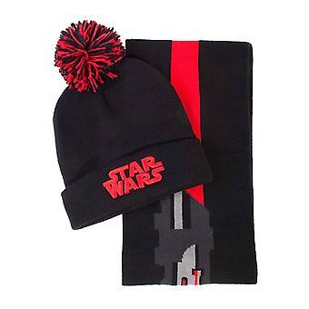Hvězdné války Beanie šátek Dárková sada Darth Vader lehká Sabre oficiální mens černá