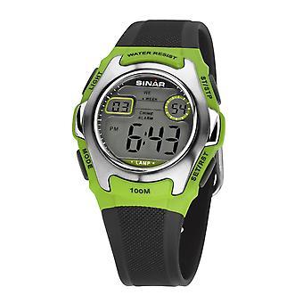SINAR mládež Sledujte deti náramkové hodinky digitálny Quartz, XE-50-3 Zelená strieborná