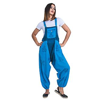 Opel baggy harem dungarees - blue