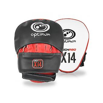Optimum Sport Techpro X14 MMA Hook & Jab Mitts Foam Lined Training Protection