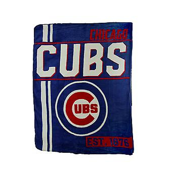 MLB Chicago Cubs Retro 1867 Micro Raschel Plush Throw Blanket