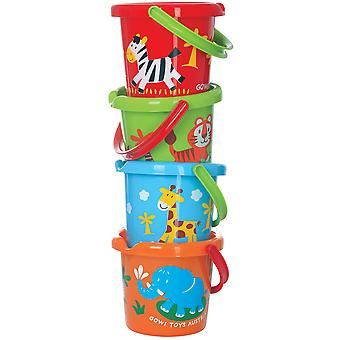 Gowi Toys Children's Wild Animal Bucket Gardening Outdoor Explore Water Sand