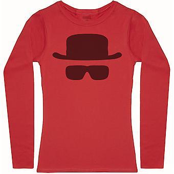 Heisenberg Mask - Womens Long Sleeve T-Shirt