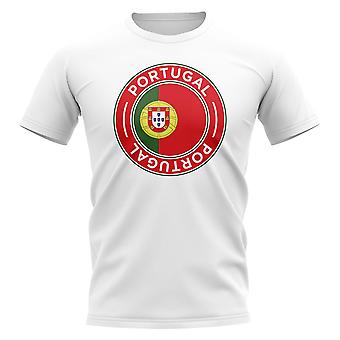 Portugal voetbal badge T-shirt (wit)