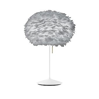 Umage Eos Table Lamp - Light Grey Feather Eos Medium/White Stand