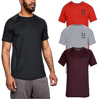 Under Armour Mens MK1 Logotipo Gráfico HeatGear UA Camiseta de manga curta