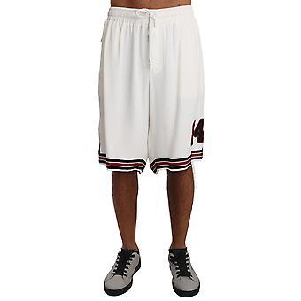 Dolce & Gabbana witte Viscose stretch zachte Sweatshort shorts--PAN6713136