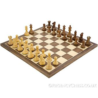 Executive Sheesham and Walnut Staunton Chess Set