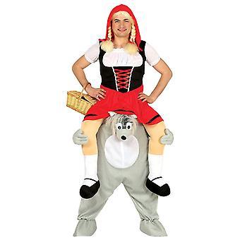 Mens ritje op Wolf Fancy Dress kostuum