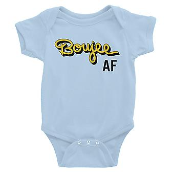 365 Printing Boujee AF Baby Bodysuit Gift Sky Blue Baby Jumpsuit For Baby Girl