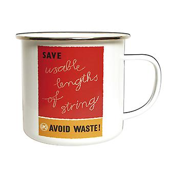 Save String Enamel Mug - The Postal Archive Collection