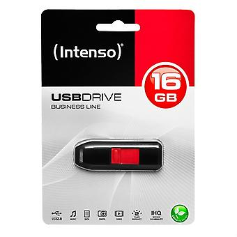 USB-stick INTENSO 3511470 16 GB zwart