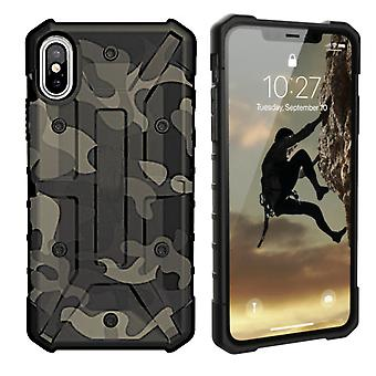 iPhone Xr Hoesje Transparant Groen - Shockproof Army