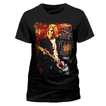 Kurt Cobain Official Nirvana Right Rock T-Shirt
