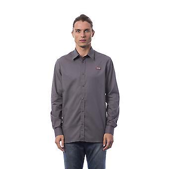 Men's Roberto Cavalli long-sleeved grey shirts