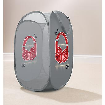 Country Club Kids Pop Up Laundry Basket, Headphones