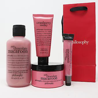 Philosophy Pink Chocolate Macaroon 4 Pcs Set  / New With Bag