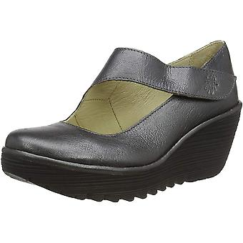 Fly London Yasi682fly Cuir Mary Jane Wedge Chaussure