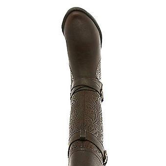 إيزي ستريت نساء كلسا جلد اللوز اللوز الركبة أحذية الأزياء الراقية